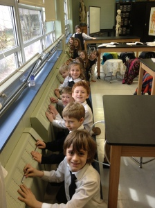 1st Grade in lab 2